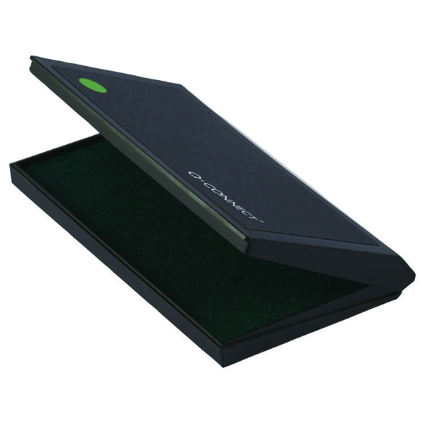 Q-Connect Large Stamp Pad Green KF15439