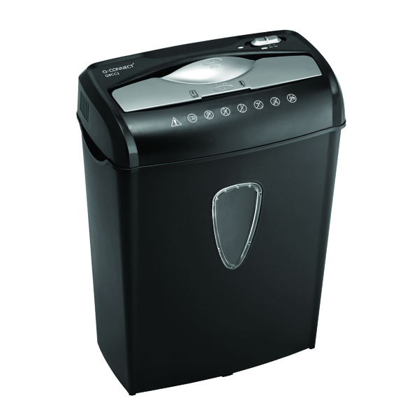 Q-Connect Q8CC2 Cross Cut Paper Shredder (Shreds up to 8 sheets of 75gsm paper)