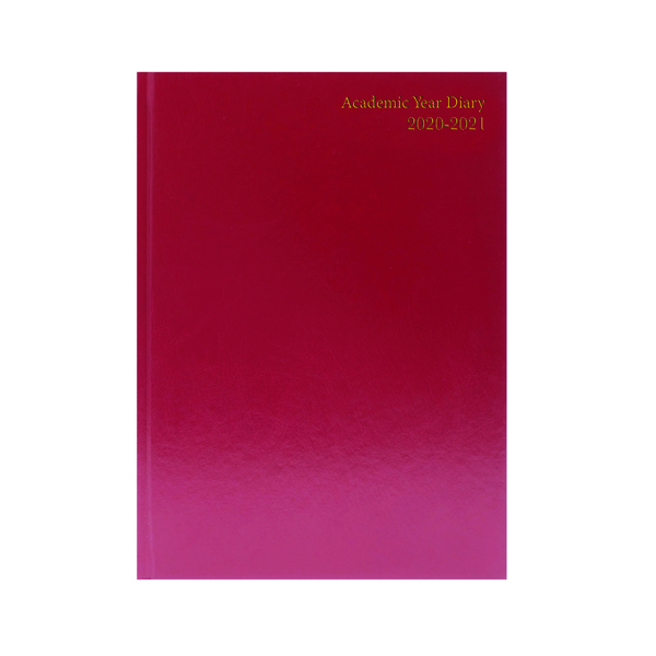 Image for Academic Diary Diary Day Per A5 Burgundy 2020-21 KF1A5ABG21