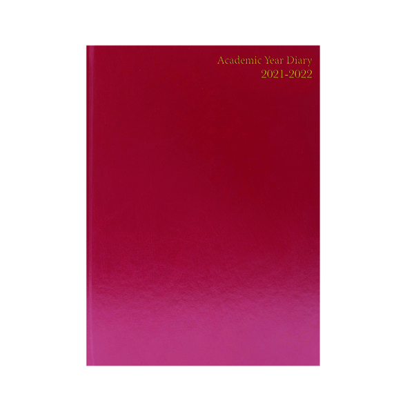Academic Diary Day Per Page A5 Burgundy 2021-22