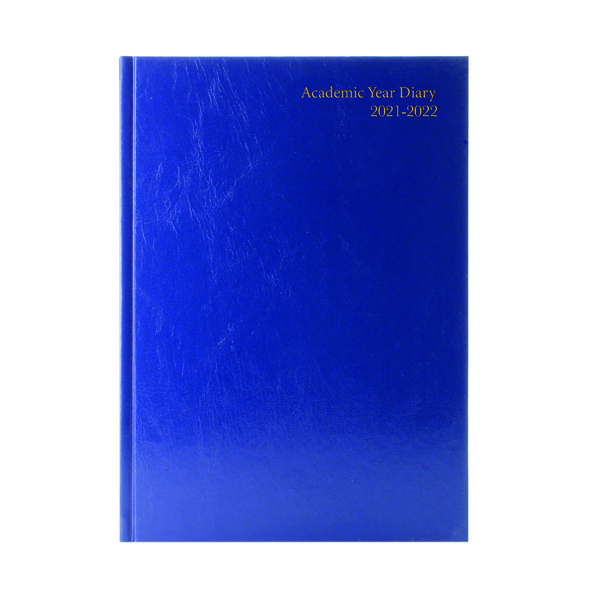 Academic Diary Day Per Page A5 Blue 2021-22