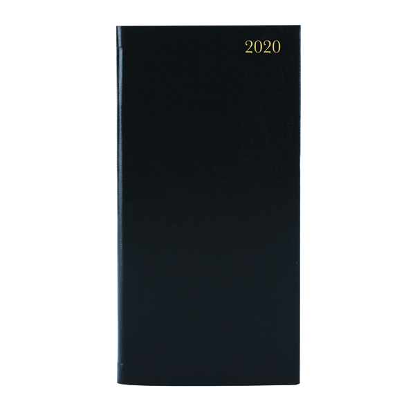 Image for Slim Diary Portrait Week to View 2020 Black KF1BK20