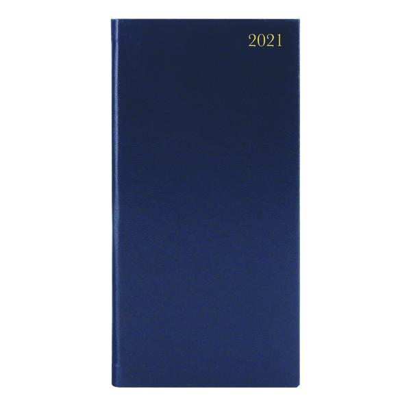 Portrait Diary Week to View Slim Blue 2021