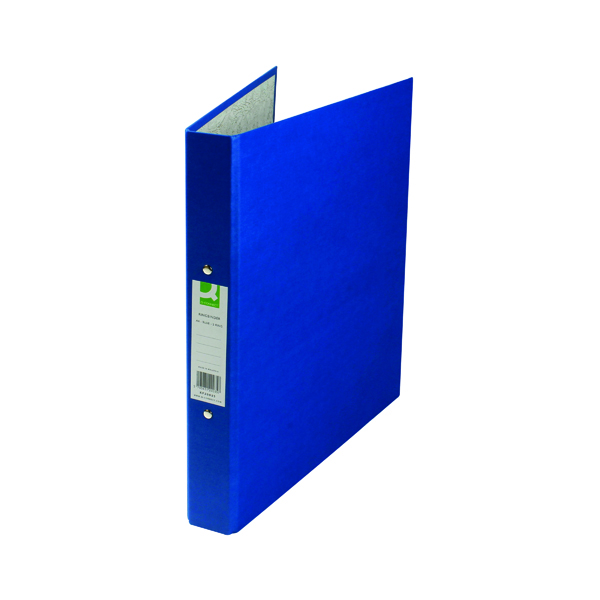 Q-Connect 2 Ring 25mm Paper Over Board Blue A4 Binder (Pack of 10) KF20035