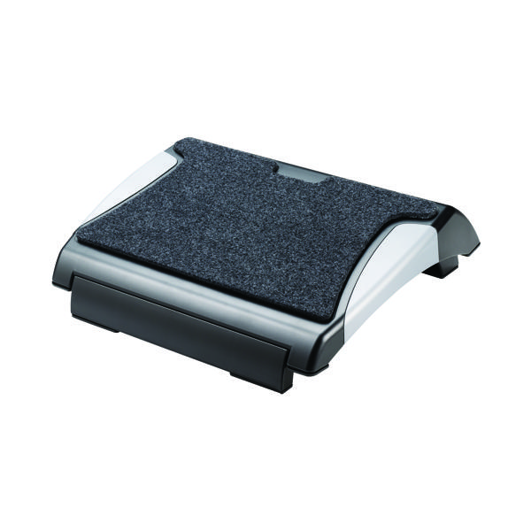 Q-Connect Ergonomic Footrest Black/Silver KF20075