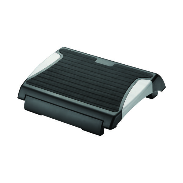 Q-Connect Anti-Slip Footrest Black/Silver KF20076