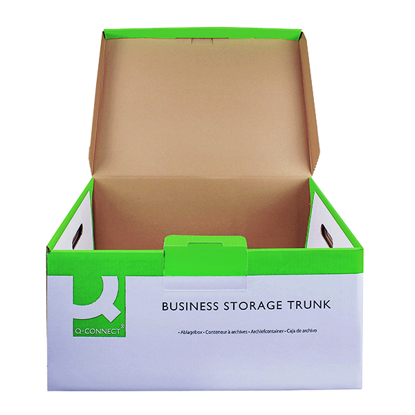 Q-Connect Business Storage Trunk Box W374xD540xH245mm White (Pack of 10) KF21663