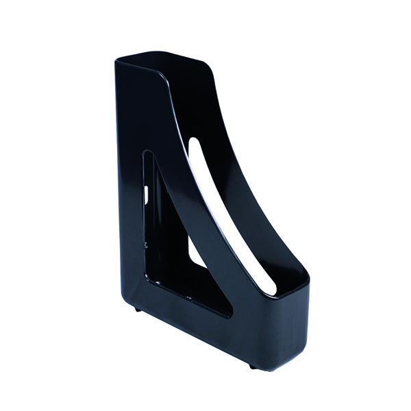 Q-Connect Executive Magazine Rack Black (Dimensions: W78  x D240 x H305mm) KF21708