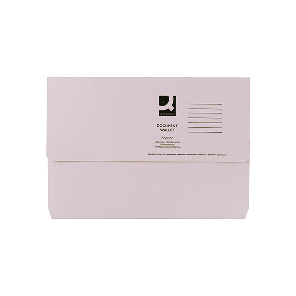 Q-Connect Document Wallet Foolscap Buff (Pack of 50) KF23010