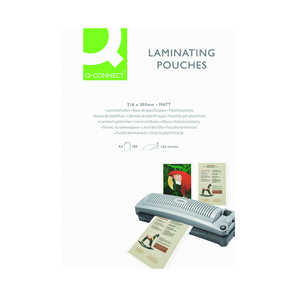 Q-Connect Matt A4 Laminating Pouch 250 Micron (Pack of 100) KF24055