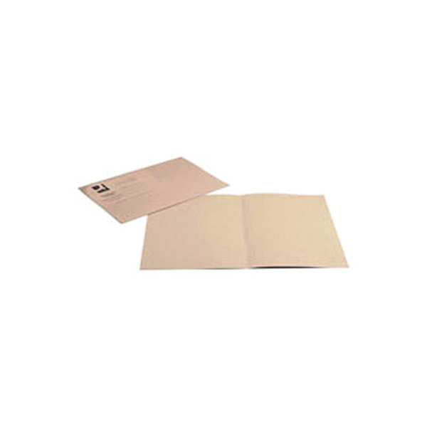 Q-Connect Square Cut Folder Lightweight 180gsm Foolscap Buff (Pack of 100) KF26032