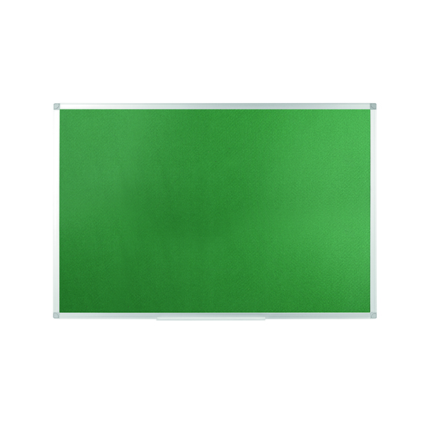Q-Connect Aluminium Frame Felt Noticeboard 900x600mm Green 54034203