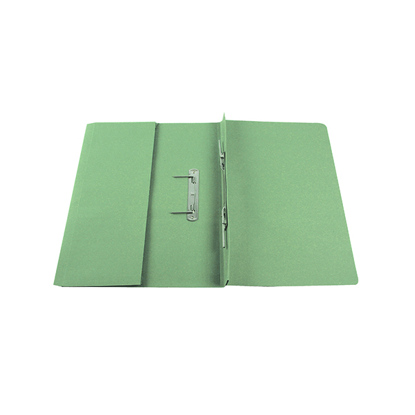 Q-Connect Transfer Pocket 35mm Capacity Foolscap File Green (Pack of 25) KF26096