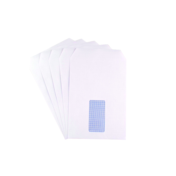 Q-Connect C5 Envelopes Window Pocket Self Seal 90gsm White (Pack of 500) 2820