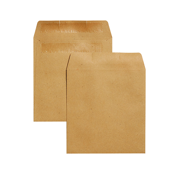 Q-Connect Envelope Wage 108x102mm Plain Self Seal 90gsm Manilla (Pack of 1000) KF3420