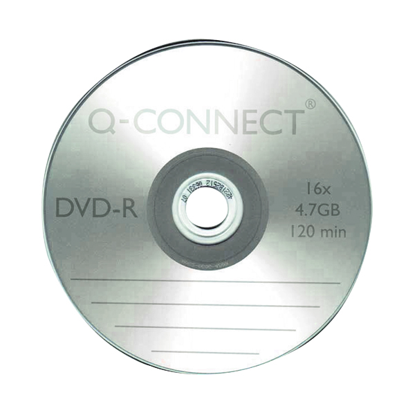 Image for Q-Connect DVD-R Slimline Jewel Case 4.7GB ( 16x speed DVD-R, 120 minute capacity) KF34356