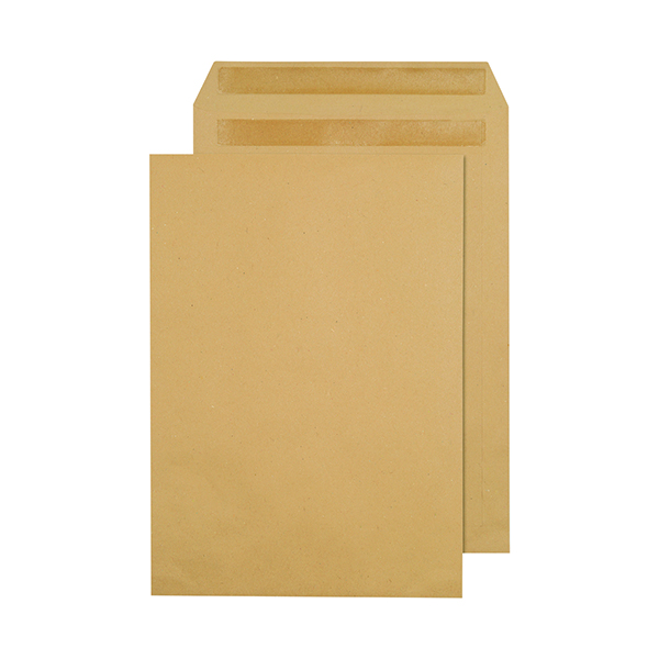 Q-Connect C4 Envelopes Pocket Self Seal 80gsm Manilla (Pack of 250) 3470