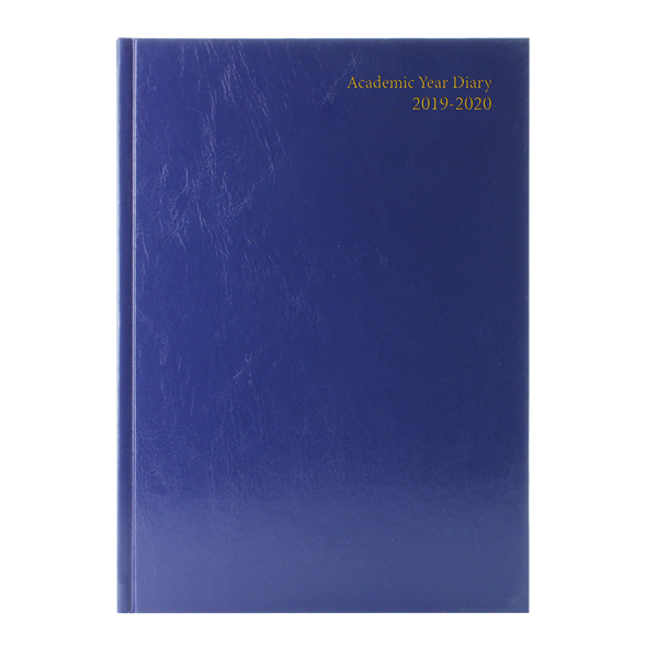 Academic Diary A4 Week to View 2019-20 Blue