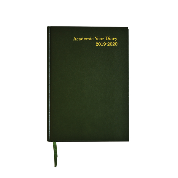 Academic Diary A5 Week to View 2019-20 Green