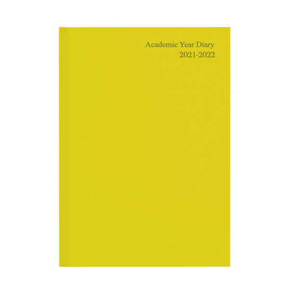Academic Diary Week To View A5 Yellow 2021-22