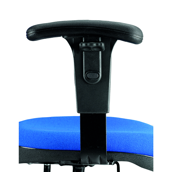 Jemini Adjustable Chair Arms Black (Pack of 2)