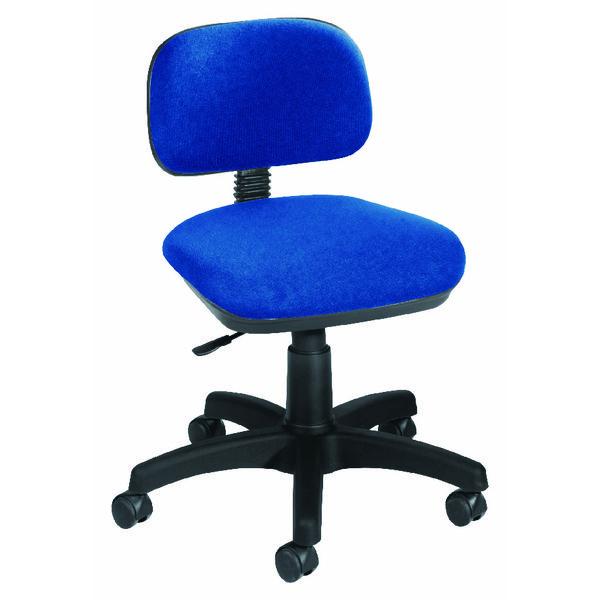 Jemini Gas Lift Typist Chair Blue