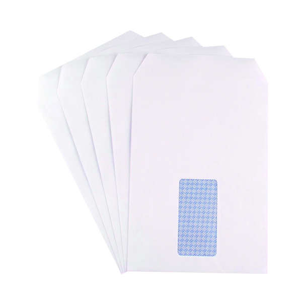 Q-Connect C5 Envelopes Window Pocket Self Seal 90gsm White (Pack of 500) 9000020