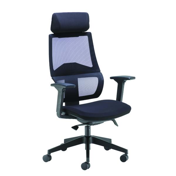 Arista Cadence High Back Executive Mesh Chair Black