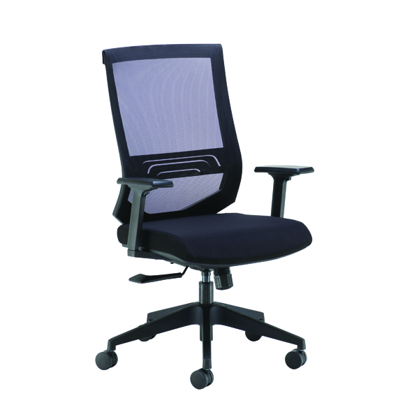 Arista Octave High Back Executive Mesh Chair Black