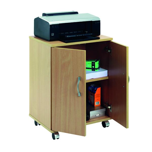 Image for Serrion Mobile PC/Printer Stand Ferrera Oak EMPSOK