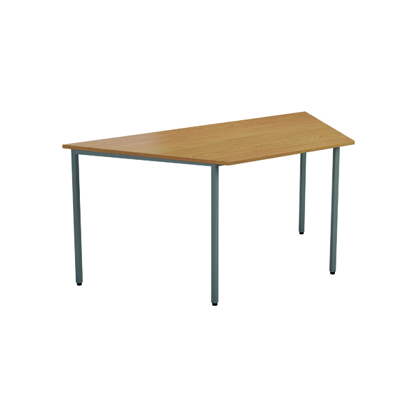 Jemini Trapezoidal Table 1600 x 800mm Beech OMPT1680TRAPBE2