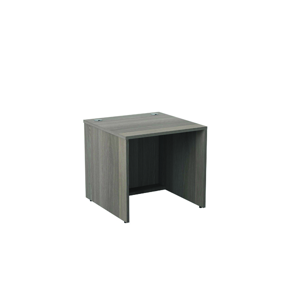 Jemini Reception Modular Desk Unit 800mm Grey Oak RCM800SBUGO