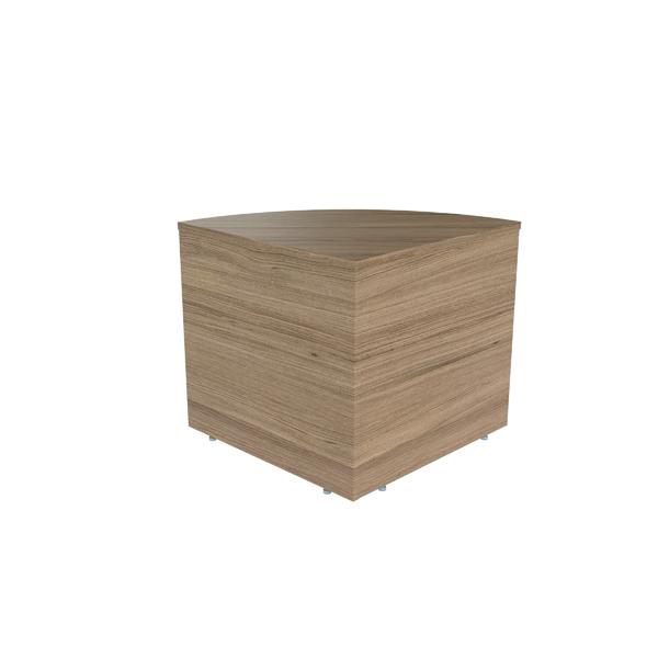 Jemini Reception Modular Corner Desk Unit Grey Oak RCMCBGO