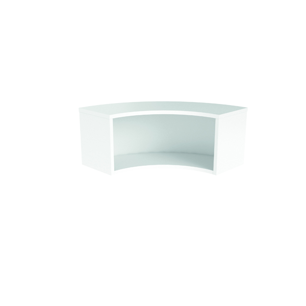 Jemini Reception Modular Corner Riser Unit White RCMCHWH