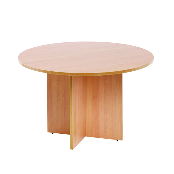 Arista Beech 1100mm Round Meeting Table KF72048