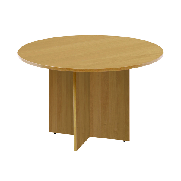 Arista Maple 1100mm Round Meeting Table