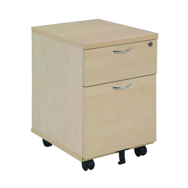 Image for Jemini Maple 2 Drawer Mobile Pedestal KF72083