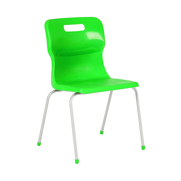 Titan 4 Leg Classroom Chair 497x477x790mm Green