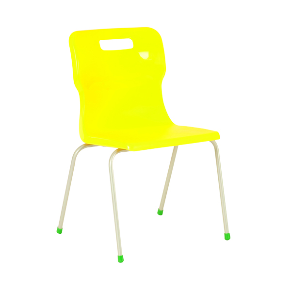 Titan 4 Leg Chair 460mm Yellow KF72198