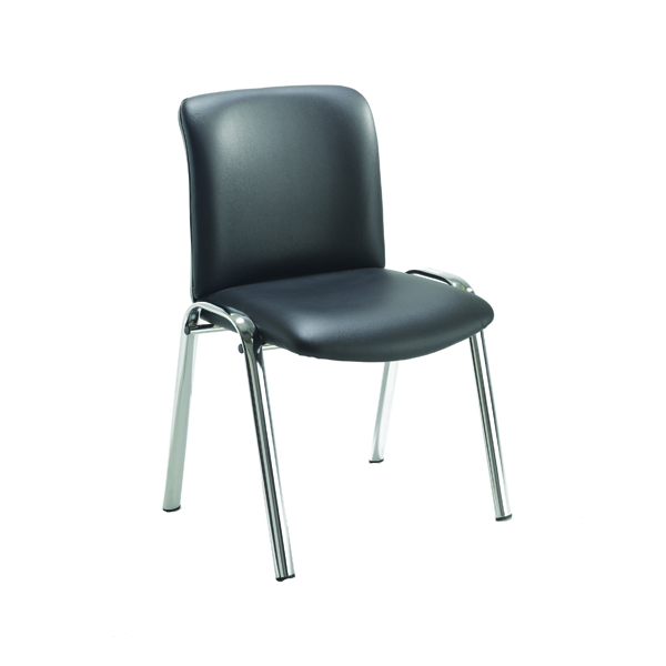 Avior Executive Leather Look Side Chair Black