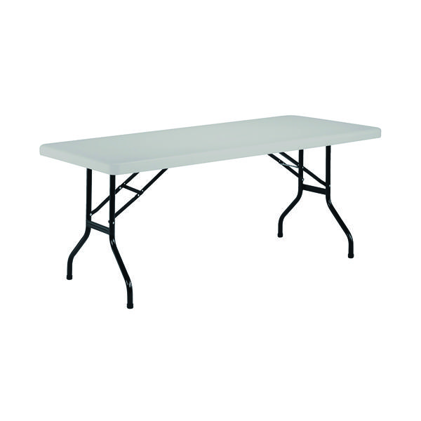 Jemini White 1220mm Folding Rectangular Table