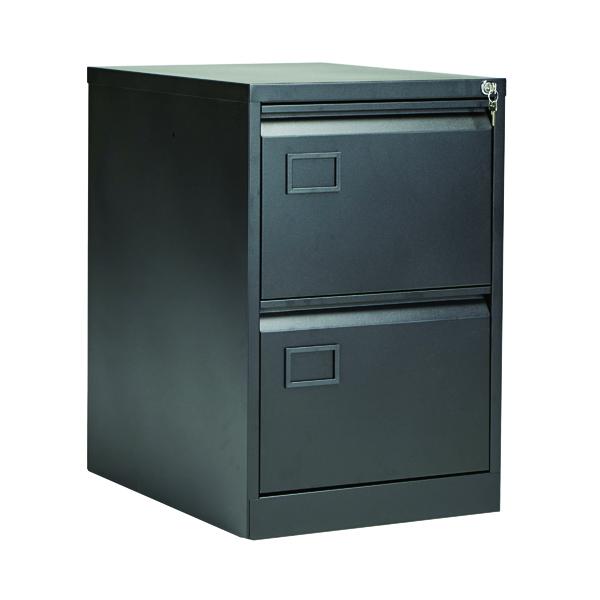 Jemini 2 Drawer Filing Cabinet Black