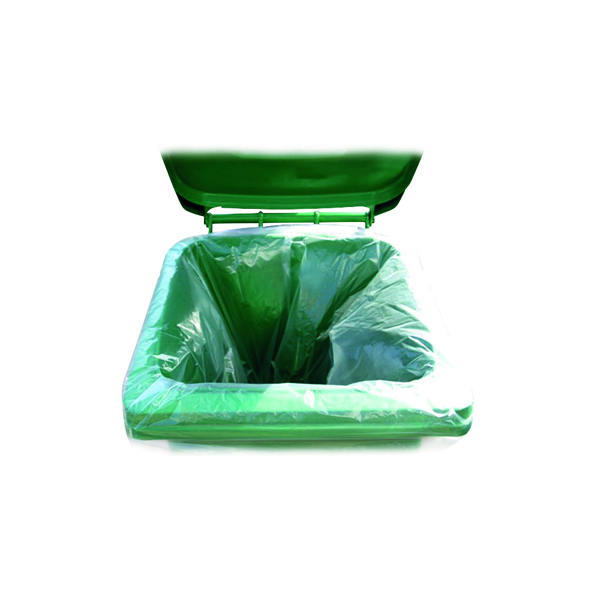 2Work Wheelie Bin Liner Clear (Pack of 100)