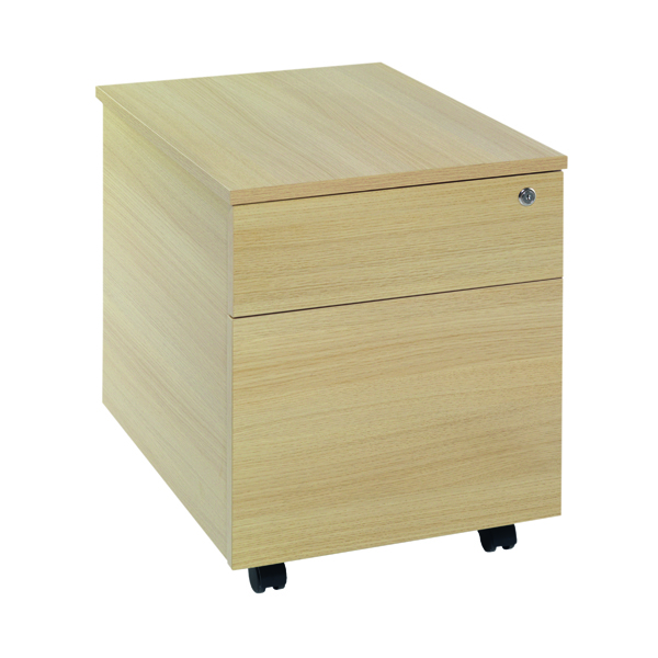 Serrion Ferrera Oak 2 Drawer Mobile Pedestal