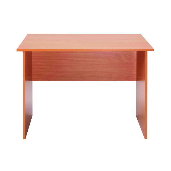 Serrion Bavarian Beech 1200mm Panel End Desk KF73660