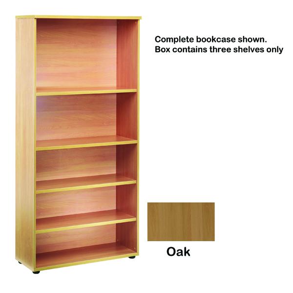 Jemini Open Storage Shelf Oak