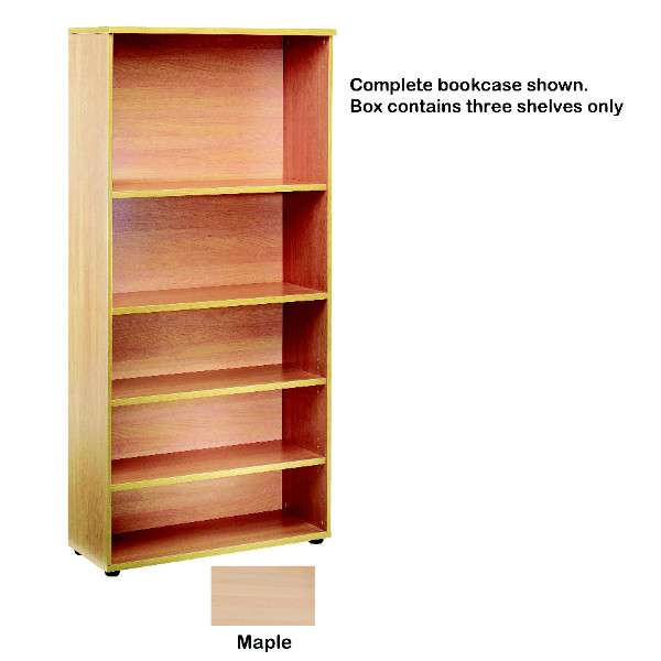 Jemini Open Storage Shelf Maple