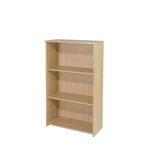 Serrion Warm Maple 1200mm Medium Bookcase (Dimensions: W740 x D340 x H1200mm)