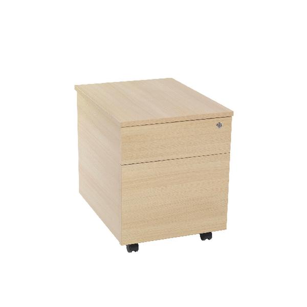 Serrion Warm Maple 2 Drawer Mobile Pedestal