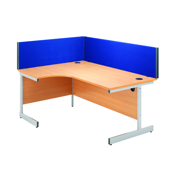 Jemini Blue 1200mm Straight Desk Screen